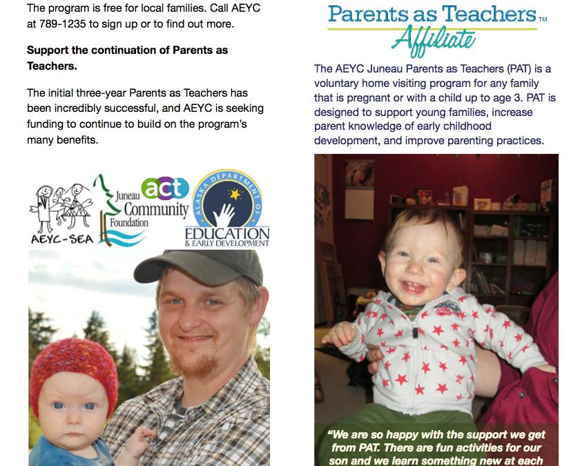 Parents as Teachers AEYC Tri-fold Brochure
