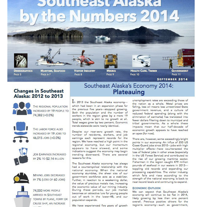 Southeast Alaska by the Numbers 2014