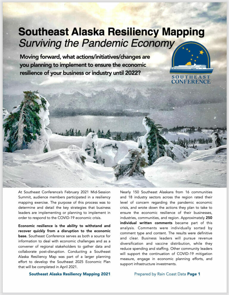 Southeast Alaska Resiliency Mapping:  Surviving the Pandemic Economy